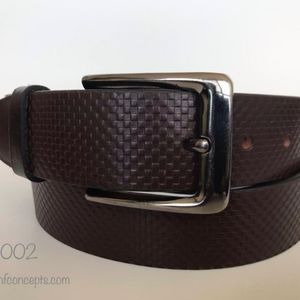 Other - Full grain Leather Belt, Coffee Brown embossed.